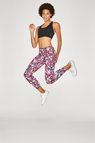 Perfect fit active trousers with print, E-DRY